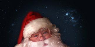 Kindern und der Weihnachtsmann