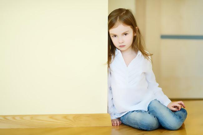 Kind alleine
