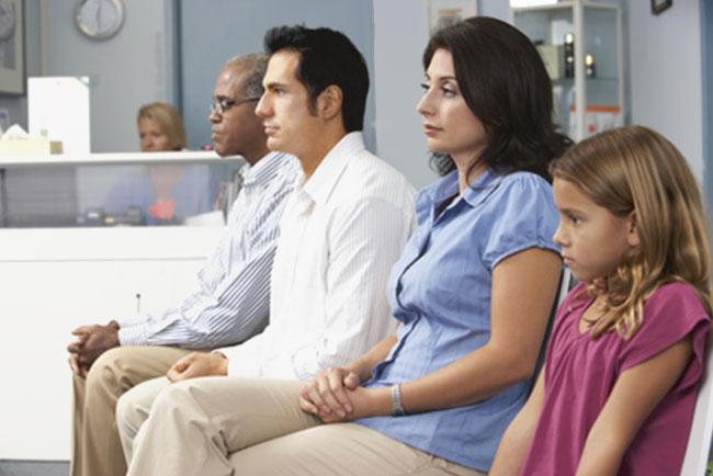 Wartezeit beim Arzt