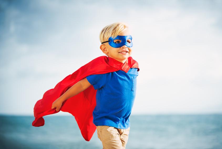 Starker Superhelden Junge