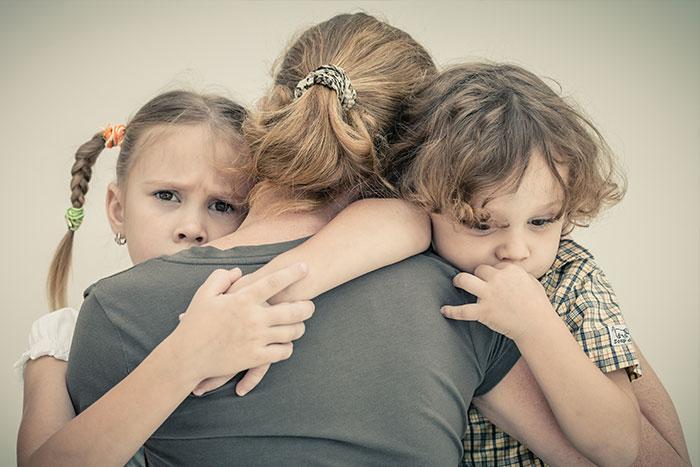 Jungen und Mädchen ohne Väter