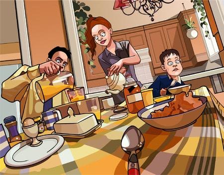Frühstück mit Kindern