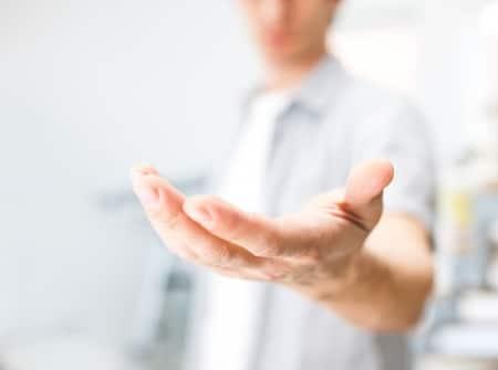 Gepflegte Männerhände