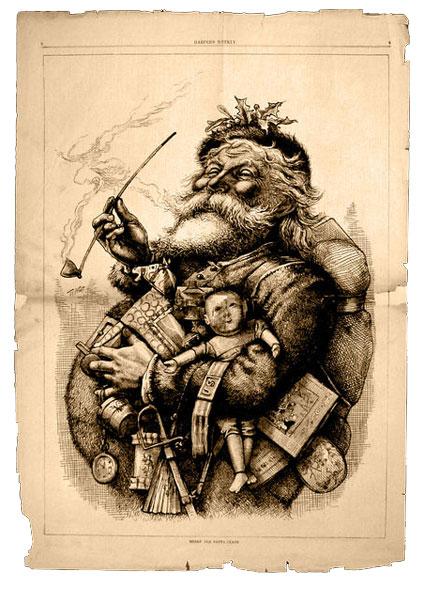 weihnachtsmann Karikatur von 1881
