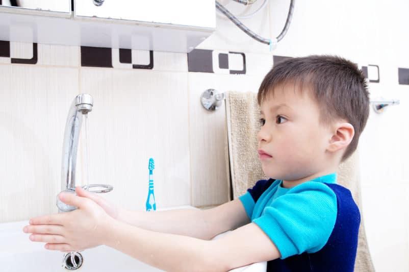 Durchfall beim Kind, Hygiene Händewaschen