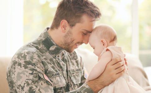 Vater und Soldat