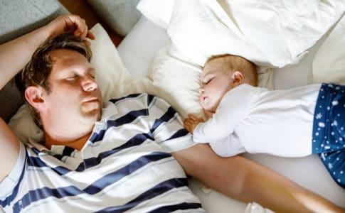 Vater ist immer müde