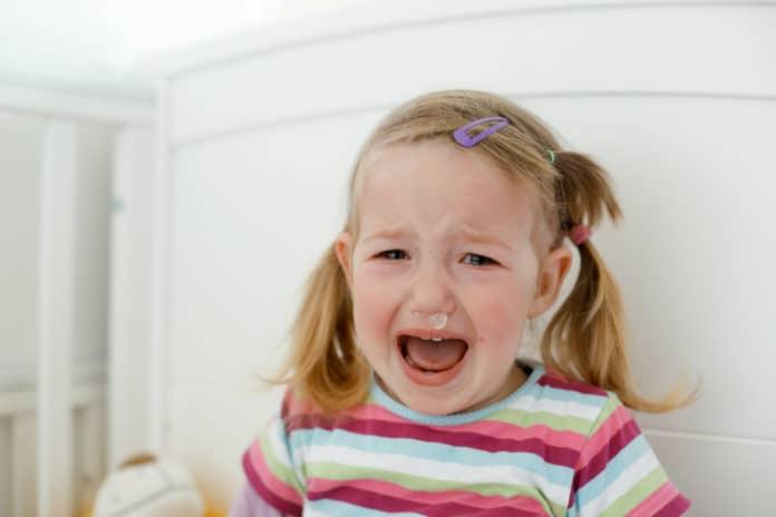 Tobsuchtsanfall bei Kindern
