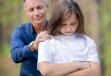 Vater und Tochter im Alltag