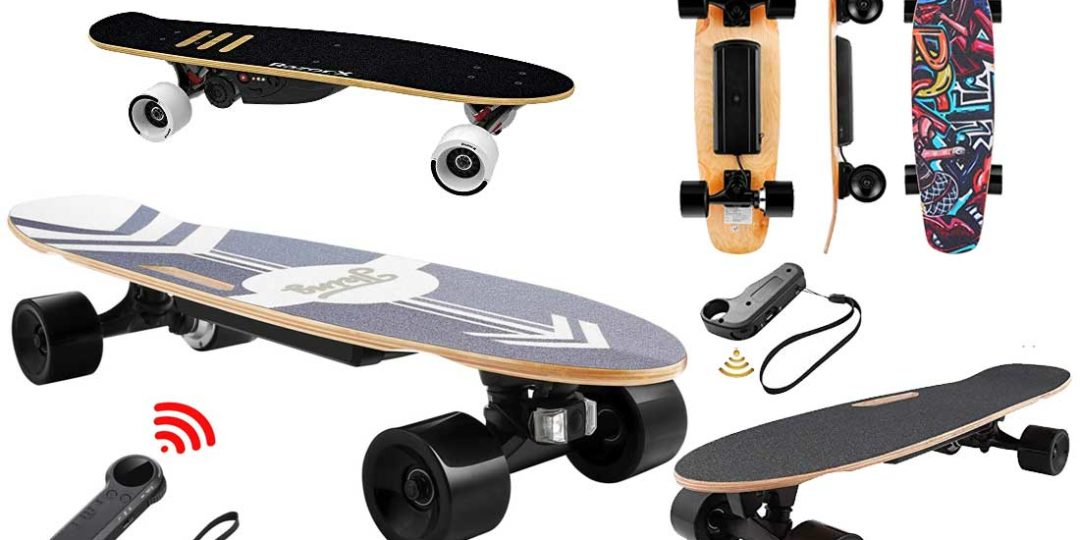 Elektrisches Skateboard mit Motor