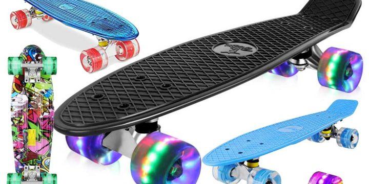 Skateboards mit Leuchtrollen für Kinder