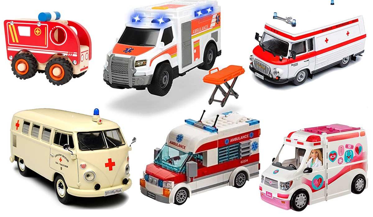 REMOKING Kinder Spielzeug Auto Montage Ambulanz