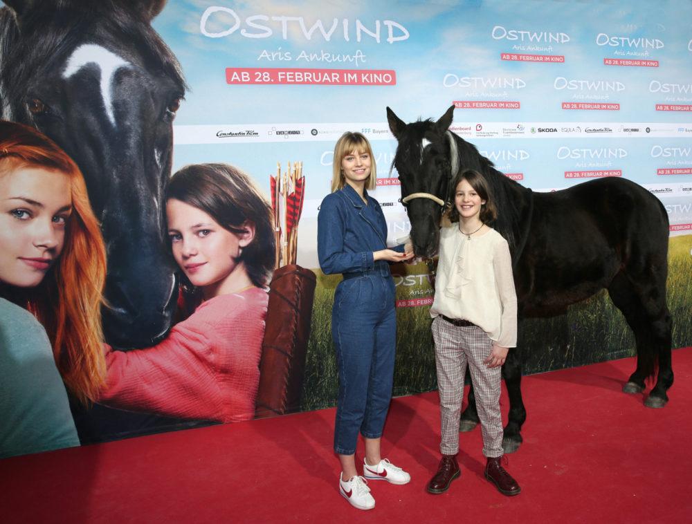 Ostwind Mika und Aris zur Filmpremiere in München