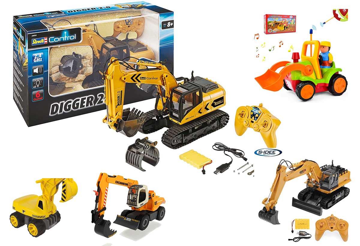 Spielzeugbagger mit Fernsteuerung