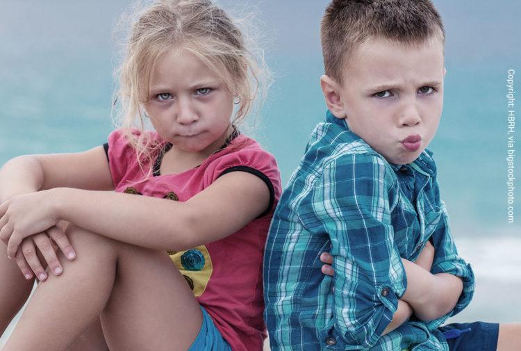 Unzufriedenheit bei Kindern