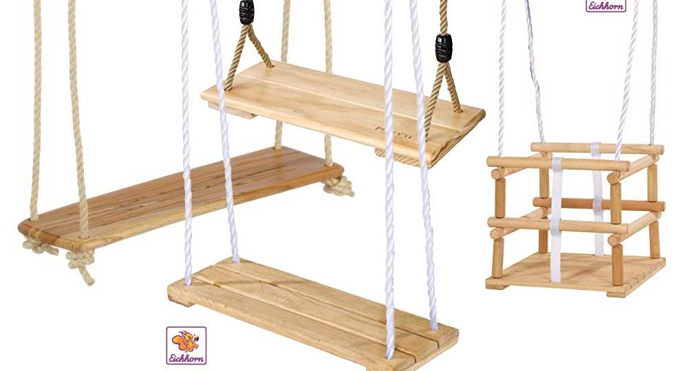 Holzschaukel für Kinder