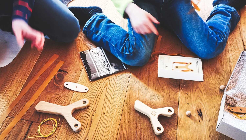 Kinder Schleuder Bausatz
