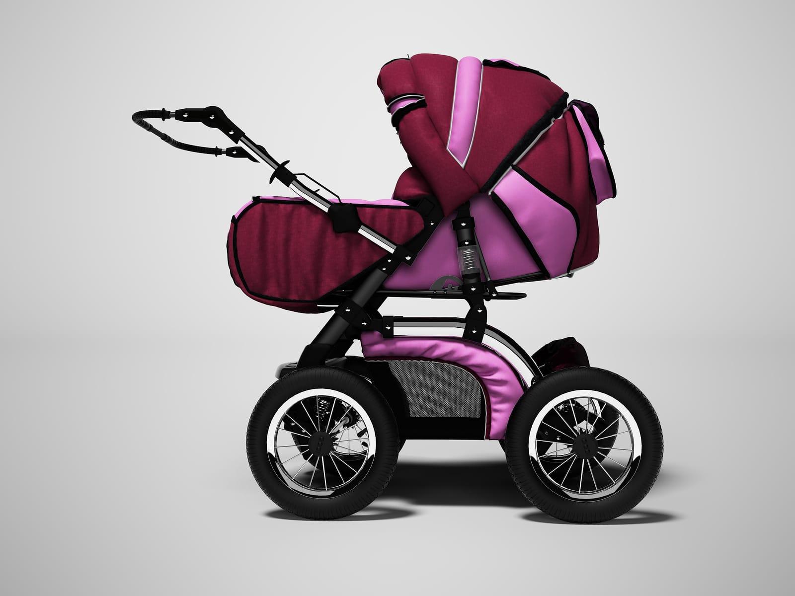 Kinderwagen mit Luftreifen.