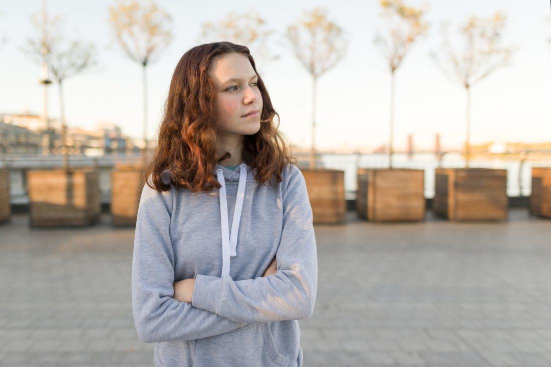 Mädchen mit 14 Jahren