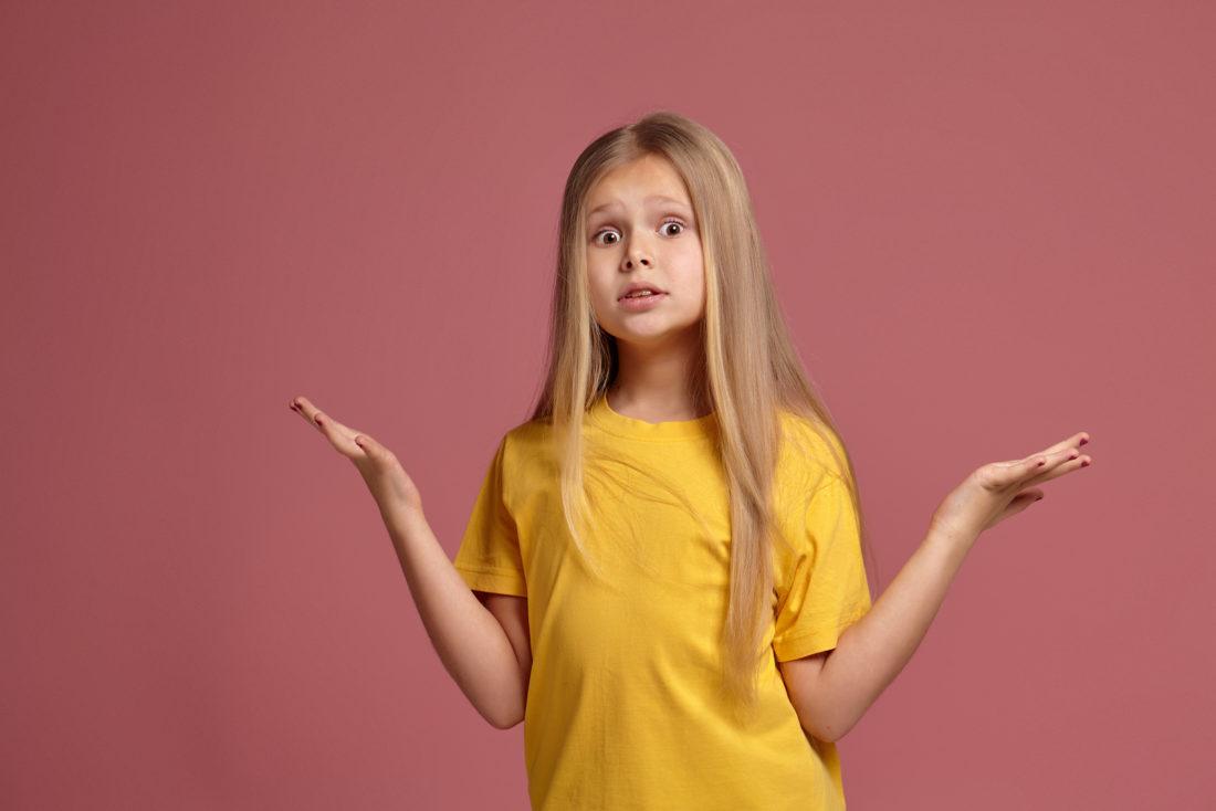 Mädchen mit 8 Jahren