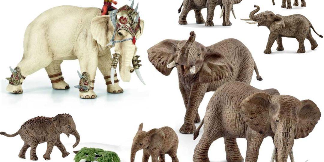 Schleich-Elefanten