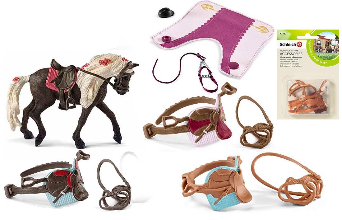 Schleich Pferde-Sattel und Trense